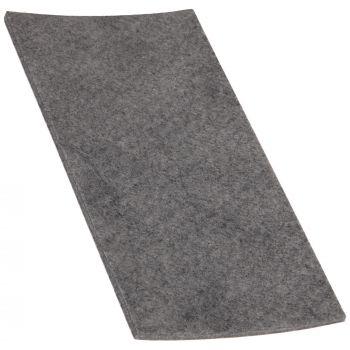selbstklebende Filzplatte   100x200 mm   Grau   rechteckig   3.5 mm starker Filzzuschnitt in Top-Qualität von Adsamm®