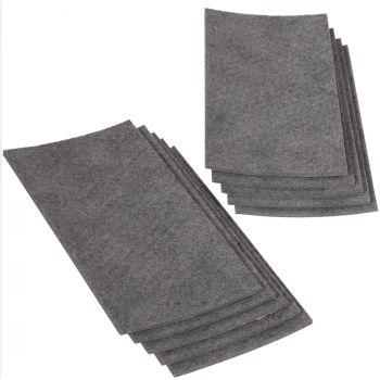 10 x selbstklebende Filzplatte   100x200 mm   Grau   rechteckig   3.5 mm starker Filzzuschnitt in Top-Qualität von Adsamm®