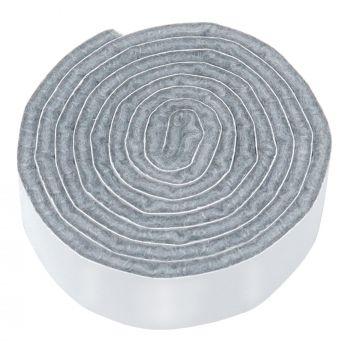 selbstklebendes Filzband zum Zuschneiden | 19x1000 mm | Grau | Rolle | 3.5 mm starker selbstklebender Filzzuschnitt in Top-Qualität