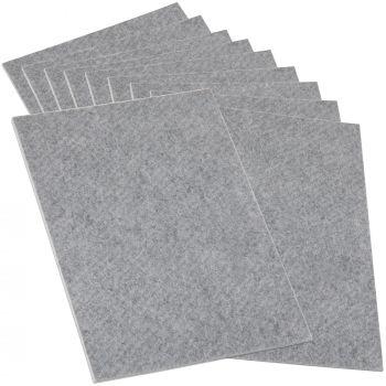 10 x selbstklebende Filzplatte | 200x300 mm | Grau | rechteckig | 3.5 mm starker Filzzuschnitt in Top-Qualität von Adsamm®