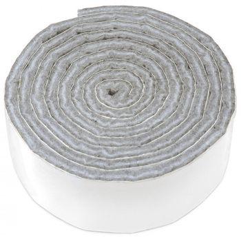 selbstklebendes Filzband zum Zuschneiden | 24x1000 mm | Grau | Rolle | 3.5 mm starker selbstklebender Filzzuschnitt in Top-Qualität