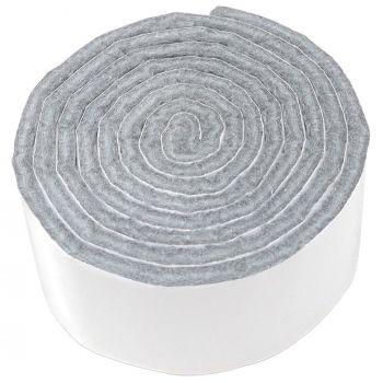 selbstklebendes Filzband zum Zuschneiden | 29x1000 mm | Grau | Rolle | 3.5 mm starker selbstklebender Filzzuschnitt in Top-Qualität