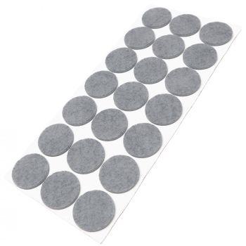 21 x Filzgleiter / Ø 30 mm / Grau / rund / 3.5 mm starke selbstklebende Filz-Möbelgleiter in Top-Qualität