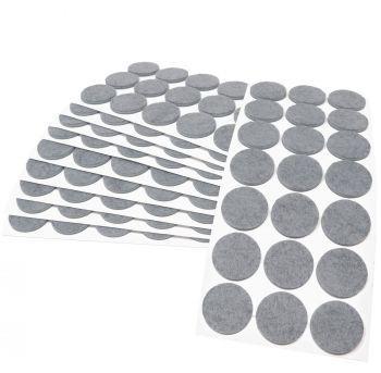 210 x Filzgleiter / Ø 30 mm / Grau / rund / 3.5 mm starke selbstklebende Filz-Möbelgleiter in Top-Qualität
