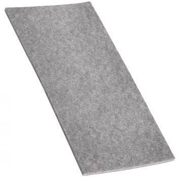 Filzgleiter / 80x180 mm / Grau / rechteckig / 3.5 mm starke selbstklebende Filz-Möbelgleiter in Top-Qualität