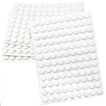 540 x Filzgleiter / Ø 10 mm / Weiß / rund / 3.5 mm starke selbstklebende Filz-Möbelgleiter in Top-Qualität