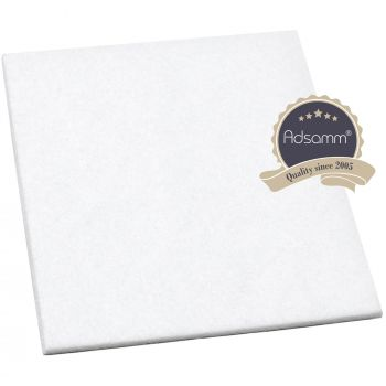 Filzgleiter / 100x100 mm / Weiß / quadratisch / 3.5 mm starke selbstklebende Filz-Möbelgleiter in Top-Qualität