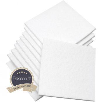 10 x Filzgleiter / 100x100 mm / Weiß / quadratisch / 3.5 mm starke selbstklebende Filz-Möbelgleiter in Top-Qualität