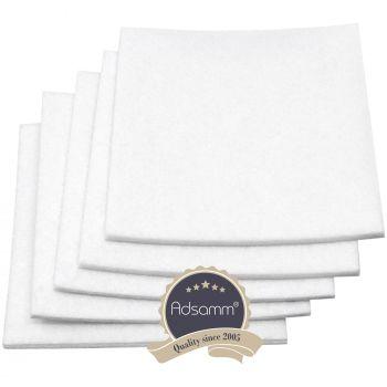 5 x Filzgleiter / 100x100 mm / Weiß / quadratisch / 3.5 mm starke selbstklebende Filz-Möbelgleiter in Top-Qualität