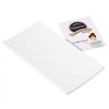selbstklebende Filzplatte   100x200 mm   Weiß   rechteckig   3.5 mm starker Filzzuschnitt in Top-Qualität von Adsamm®