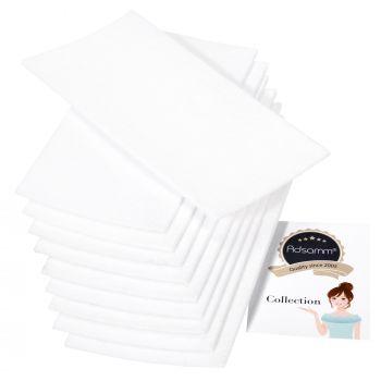 10 x selbstklebende Filzplatte   100x200 mm   Weiß   rechteckig   3.5 mm starker Filzzuschnitt in Top-Qualität von Adsamm®