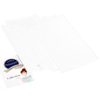 5 x selbstklebende Filzplatte   100x200 mm   Weiß   rechteckig   3.5 mm starker Filzzuschnitt in Top-Qualität von Adsamm®