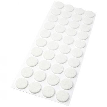 40 x Filzgleiter / Ø 18 mm / Weiß / rund / 3.5 mm starke selbstklebende Filz-Möbelgleiter in Top-Qualität