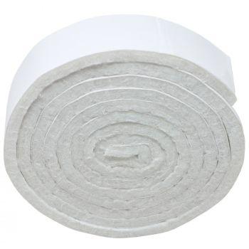 selbstklebendes Filzband zum Zuschneiden | 19x1000 mm | Weiß | Rolle | 3.5 mm starker selbstklebender Filzzuschnitt in Top-Qualität