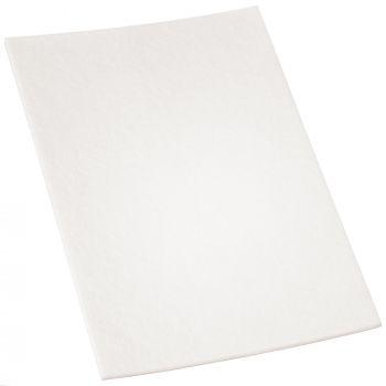selbstklebende Filzplatte | 200x300 mm | Weiß | rechteckig | 3.5 mm starker Filzzuschnitt in Top-Qualität von Adsamm®