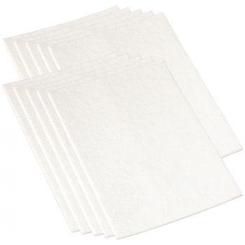 10 x selbstklebende Filzplatte | 200x300 mm | Weiß | rechteckig | 3.5 mm starker Filzzuschnitt in Top-Qualität von Adsamm®