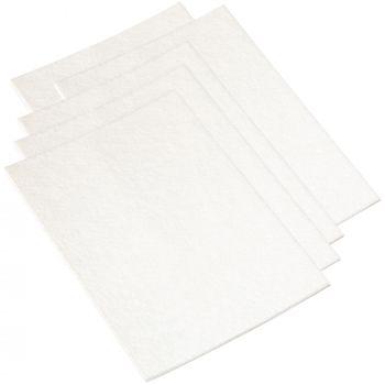 5 x selbstklebende Filzplatte | 200x300 mm | Weiß | rechteckig | 3.5 mm starker Filzzuschnitt in Top-Qualität von Adsamm®