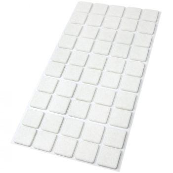 50 x Filzgleiter / 20x20 mm / Weiß / rund / 3.5 mm starke selbstklebende Filz-Möbelgleiter in Top-Qualität