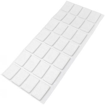 28 x Filzgleiter / 20x30 mm / Weiß / rechteckig / 3.5 mm starke selbstklebende Filz-Möbelgleiter in Top-Qualität