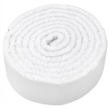 selbstklebendes Filzband zum Zuschneiden | 24x1000 mm | Weiß | Rolle | 3.5 mm starker selbstklebender Filzzuschnitt in Top-Qualität