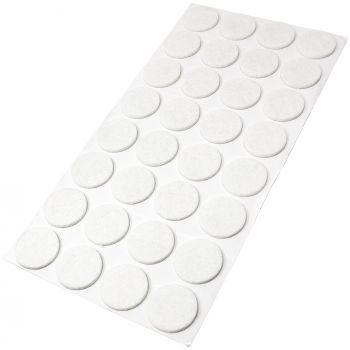 32 x Filzgleiter / Ø 26 mm / Weiß / rund / 3.5 mm starke selbstklebende Filz-Möbelgleiter in Top-Qualität
