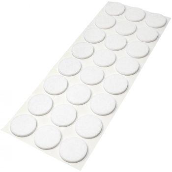 24 x Filzgleiter / Ø 28 mm / Weiß / rund / 3.5 mm starke selbstklebende Filz-Möbelgleiter in Top-Qualität