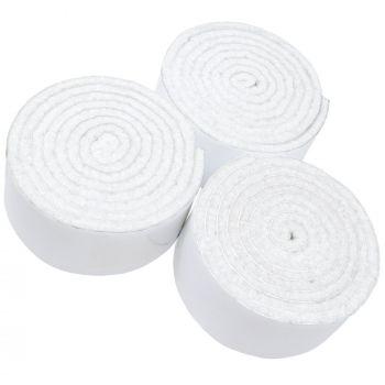 3 x selbstklebende Filzbänder zum Zuschneiden | 29x1000 mm | Weiß | Rolle | 3.5 mm starker selbstklebender Filzzuschnitt in Top-Qualität