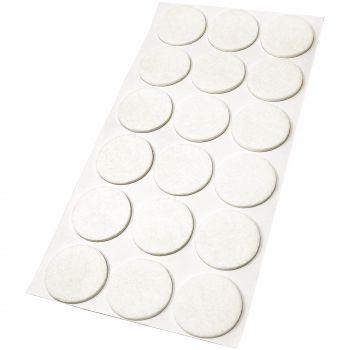 18 x Filzgleiter / Ø 36 mm / Weiß / rund / 3.5 mm starke selbstklebende Filz-Möbelgleiter in Top-Qualität