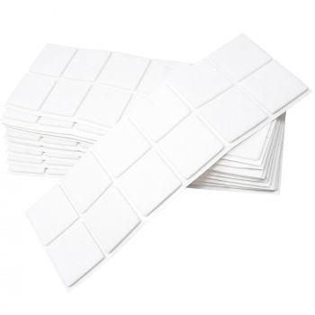 120 x Filzgleiter / 40x40 mm / Weiß / quadratisch / 3.5 mm starke selbstklebende Filz-Möbelgleiter in Top-Qualität