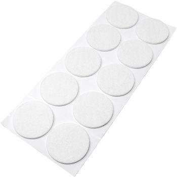10 x Filzgleiter / Ø 45 mm / Weiß / rund / 3.5 mm starke selbstklebende Filz-Möbelgleiter in Top-Qualität
