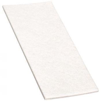 selbstklebende Filzplatte   80x180 mm   Weiß   rechteckig   3.5 mm starker Filzzuschnitt in Top-Qualität von Adsamm®