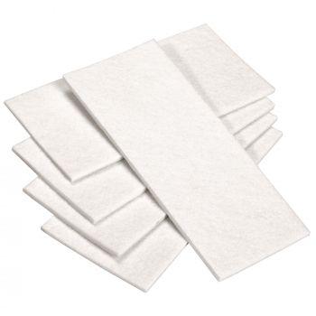 5 x selbstklebende Filzplatte   80x180 mm   Weiß   rechteckig   3.5 mm starker Filzzuschnitt in Top-Qualität von Adsamm®