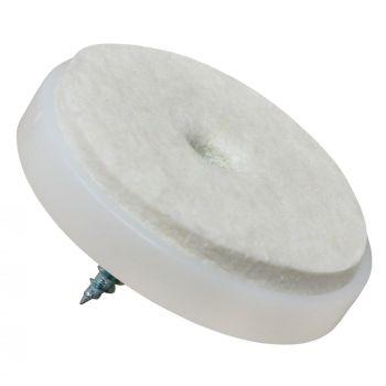 100 x Filzgleiter mit Schraube | Ø 40 mm | Weiß | rund | Möbelgleiter zum Schrauben in Premium-Qualität von Adsamm®