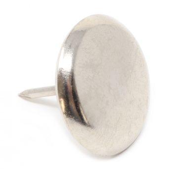 4 x Metallgleiter mit Nagel | Ø 30 mm | Silber | rund | Möbelgleiter mit Stift in Premium-Qualität von Adsamm®