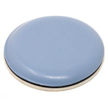 100 x PTFE-Gleiter   Ø 40 mm   Grau-Blau   rund   Selbstklebende Möbelgleiter in Premium-Qualität von Adsamm®